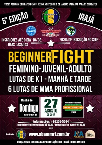 5º Begnner Fight de Kickboxing 2017